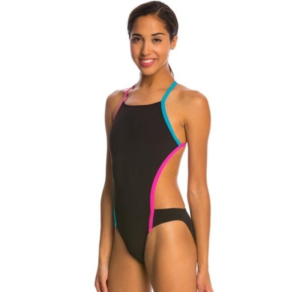 1f10a58d450a9 Speedo Swim   Turnz Vee 2 Color Block One Piece Suit   Poshmark